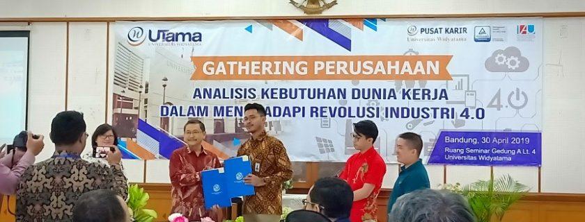 Penandatangan Mou Sebagai Wujud Kerjasama  Industri Dengan Program Studi Manajemen D3 Universitas Widyatama